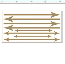 Arrows lots of arrows 203 x 110mm min buy 3